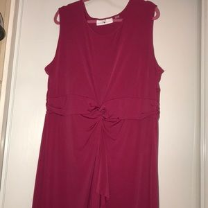 Avenue Studio faux wrap dress sz 22/24 fuchsia